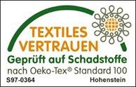 Textiles Vertrauen - geprüfte auf Schadstoffe nach Oeko-Tex Standard 100