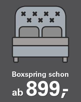 Boxspringbett schon ab 899,- Euro